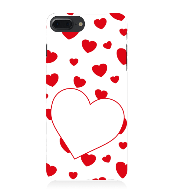 Loving Hearts Back Cover for Apple iPhone 8 Plus