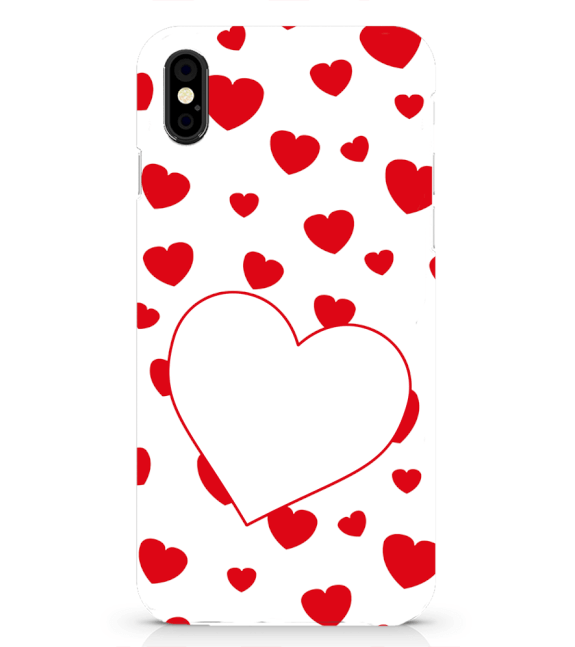 Loving Hearts Back Cover for Apple iPhone X
