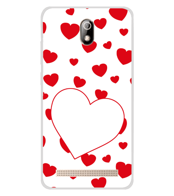 Loving Hearts Back Cover for Comio C1 Pro