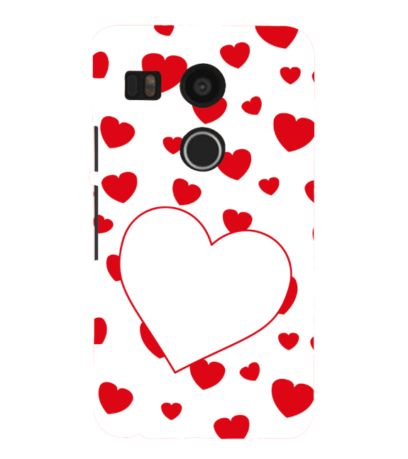 Loving Hearts Back Cover for Google Nexus 5X