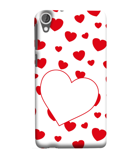 Loving Hearts Back Cover for HTC Desire 825