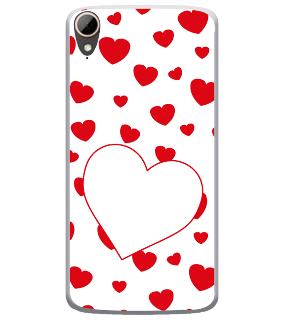 Loving Hearts Back Cover for HTC Desire 828