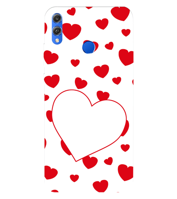 Loving Hearts Back Cover for Huawei Honor 8X