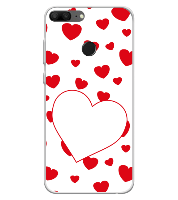 Loving Hearts Back Cover for Huawei Honor 9 Lite