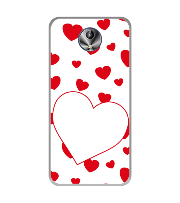 Loving Hearts Back Cover for Intex Amaze+
