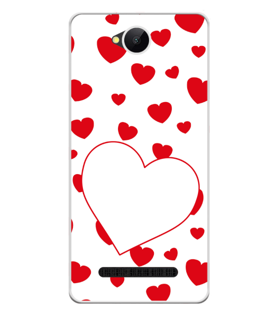 Loving Hearts Back Cover for Karbonn A45 Indian