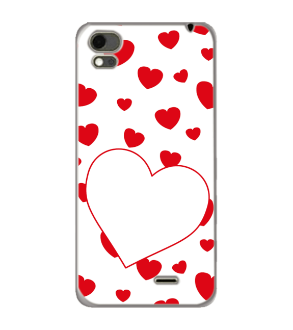 Loving Hearts Back Cover for Karbonn Aura Note 4G