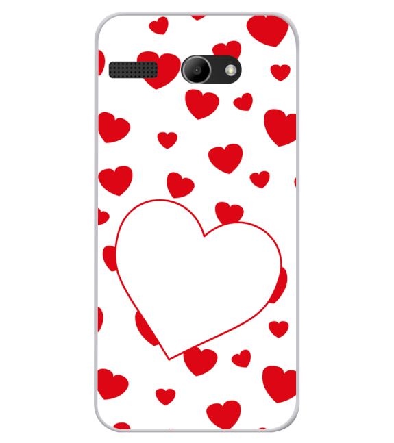 Loving Hearts Back Cover for Lava Iris Atom X
