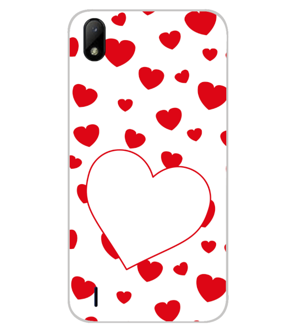 Loving Hearts Back Cover for Lava Z41