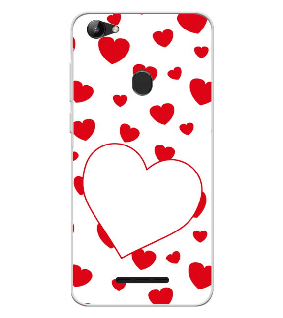 Loving Hearts Back Cover for Lava Z81