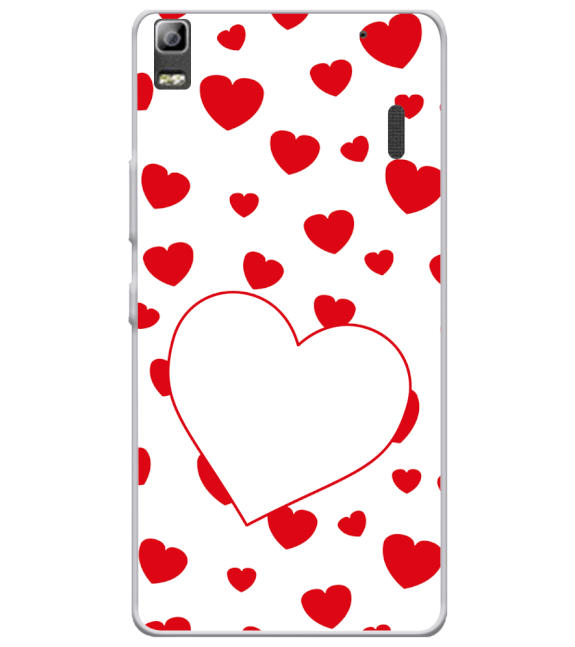Loving Hearts Back Cover for Lenovo A7000 and K3 Note