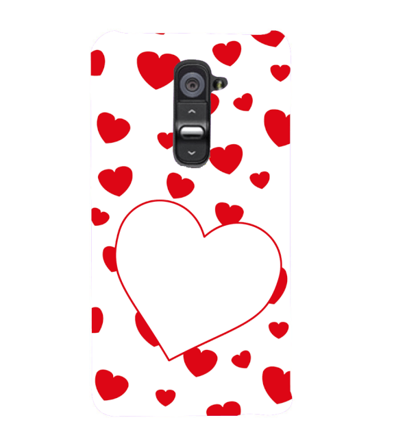 Loving Hearts Back Cover for LG G2