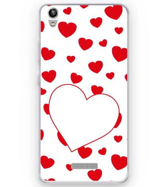 Loving Hearts Back Cover for Micromax Canvas Fire 5 Q386