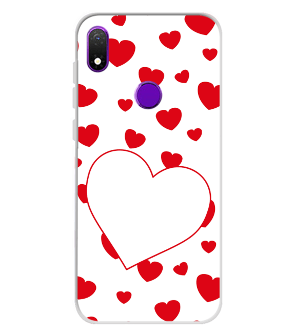 Loving Hearts Back Cover for Mobiistar X1 Notch