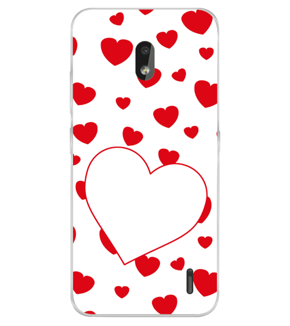 Loving Hearts Back Cover for Nokia 2.2