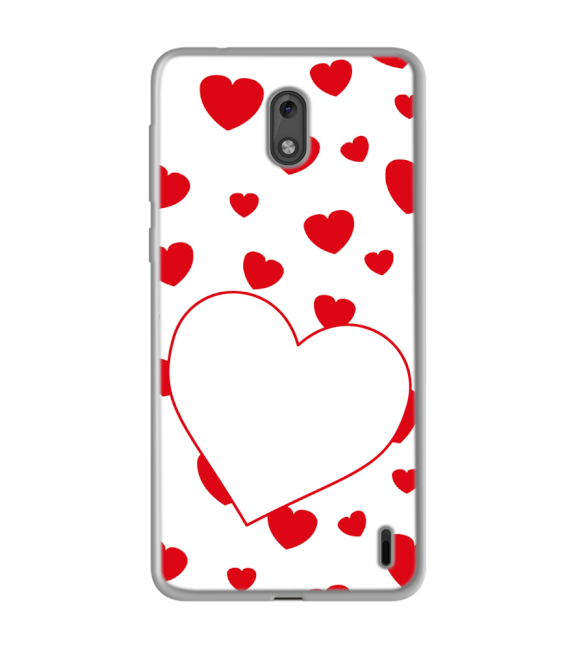 Loving Hearts Back Cover for Nokia 2