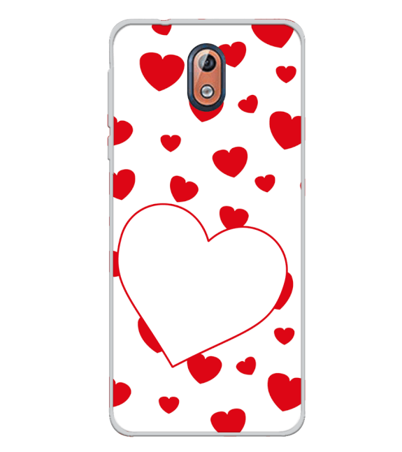 Loving Hearts Back Cover for Nokia 3.1 (2018)