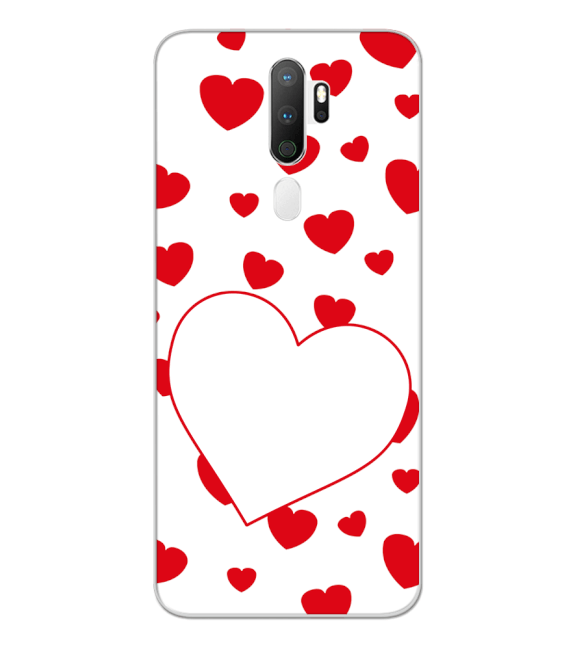 Loving Hearts Back Cover for Oppo A5 (2020)