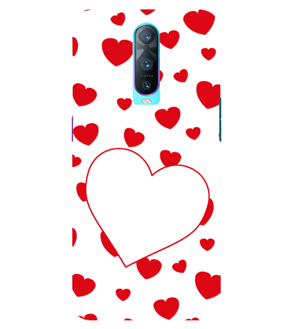 Loving Hearts Back Cover for Oppo RX17 Pro