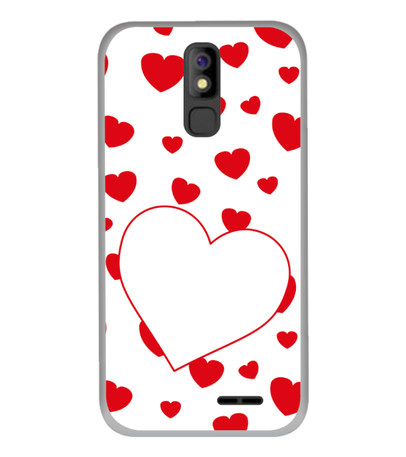 Loving Hearts Back Cover for Panasonic P100