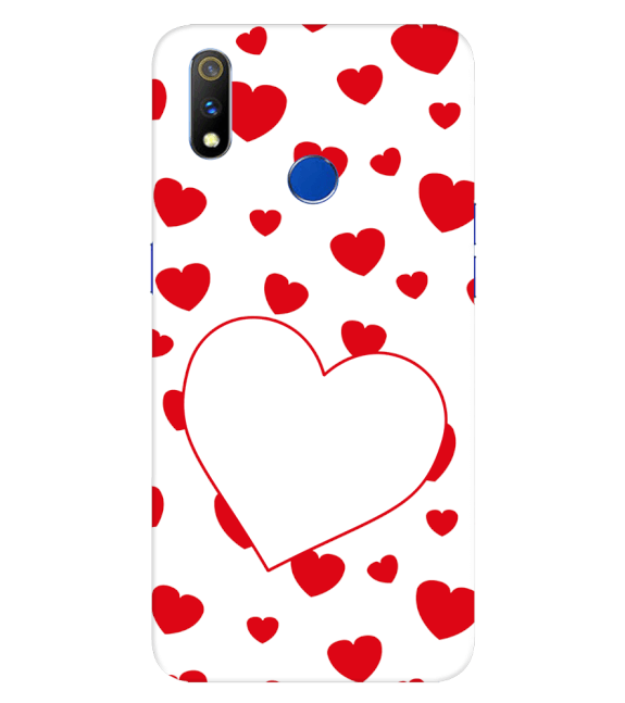 Loving Hearts Back Cover for Realme 3 Pro