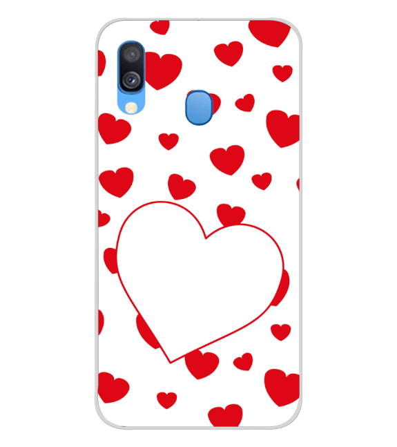 Loving Hearts Back Cover for Samsung Galaxy A40