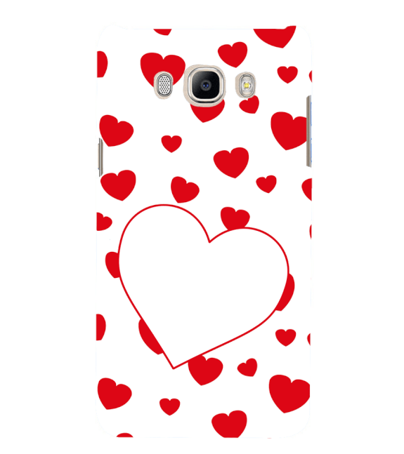 Loving Hearts Back Cover for Samsung Galaxy J7 (6) 2016 : Galaxy On 8