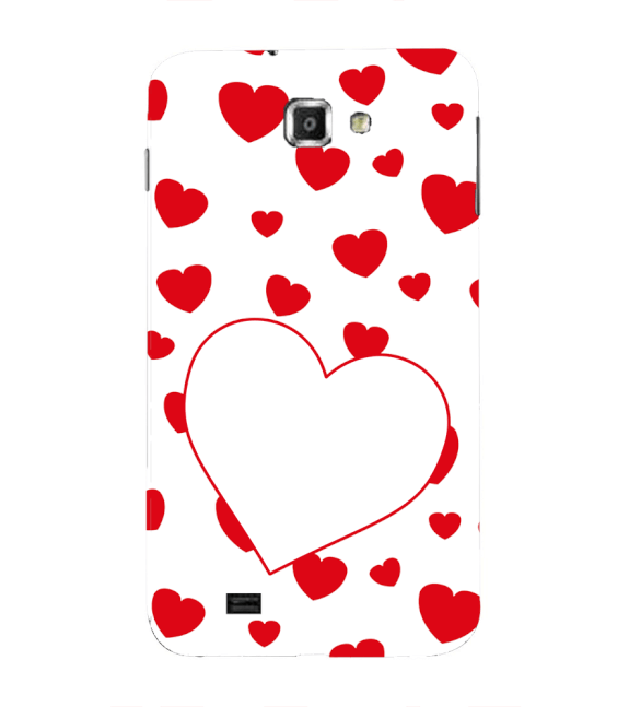 Loving Hearts Back Cover for Samsung Galaxy Note N7000