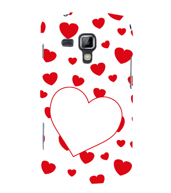 Loving Hearts Back Cover for Samsung Galaxy S Duos and S Duos 2