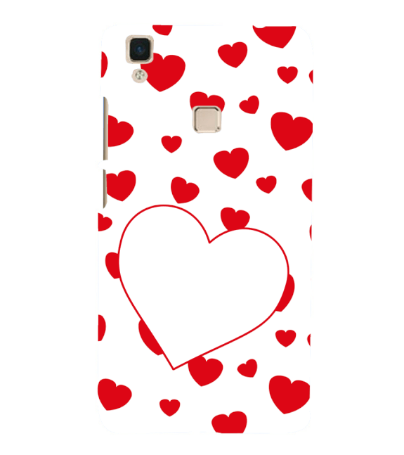 Loving Hearts Back Cover for Vivo V3Max