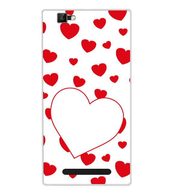Loving Hearts Back Cover for Xolo Era 1X Pro