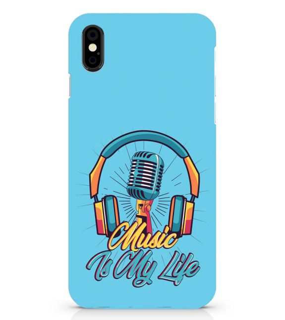 Music is My Life Back Cover for Apple iPhone X