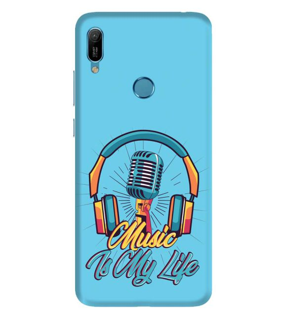 Music is My Life Back Cover for Huawei Y6 Prime (2019)