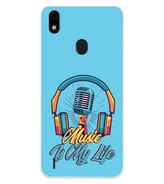 Music is My Life Back Cover for Lava Z52 Pro