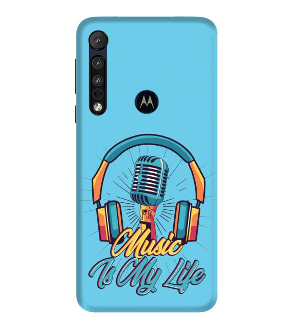 Music is My Life Back Cover for Motorola One Macro