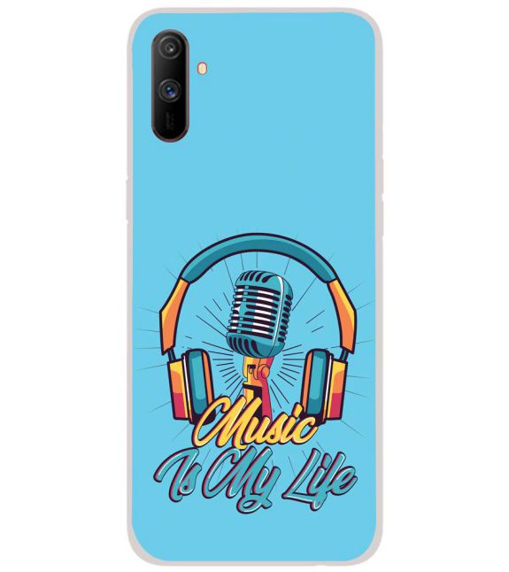 Music is My Life Back Cover for Realme C3