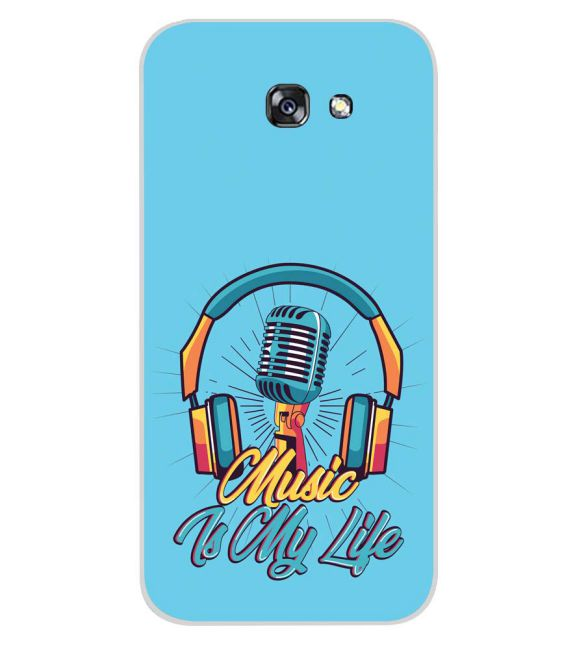 Music is My Life Back Cover for Samsung Galaxy A7 (2017)