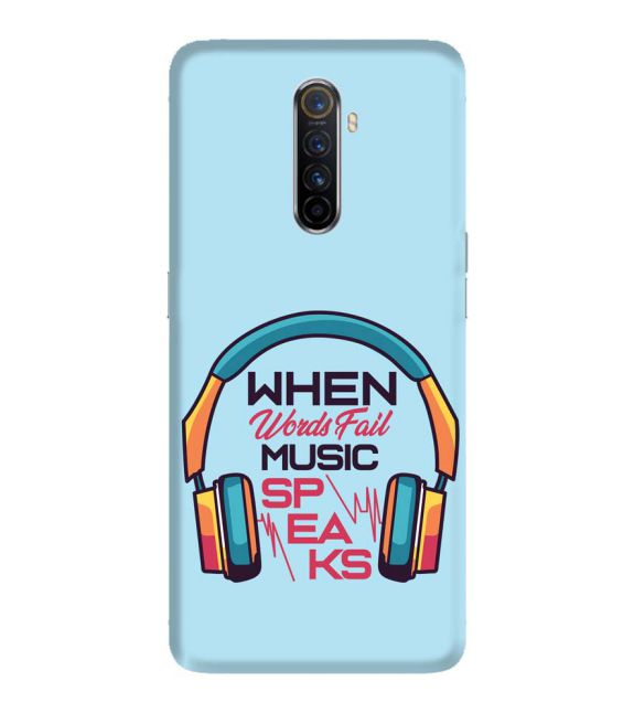 Music Speaks Back Cover for Oppo Reno Ace