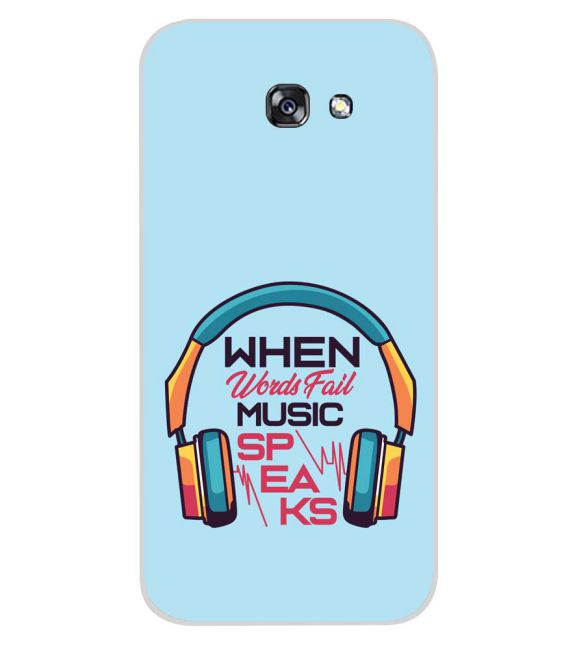 Music Speaks Back Cover for Samsung Galaxy A7 (2017)