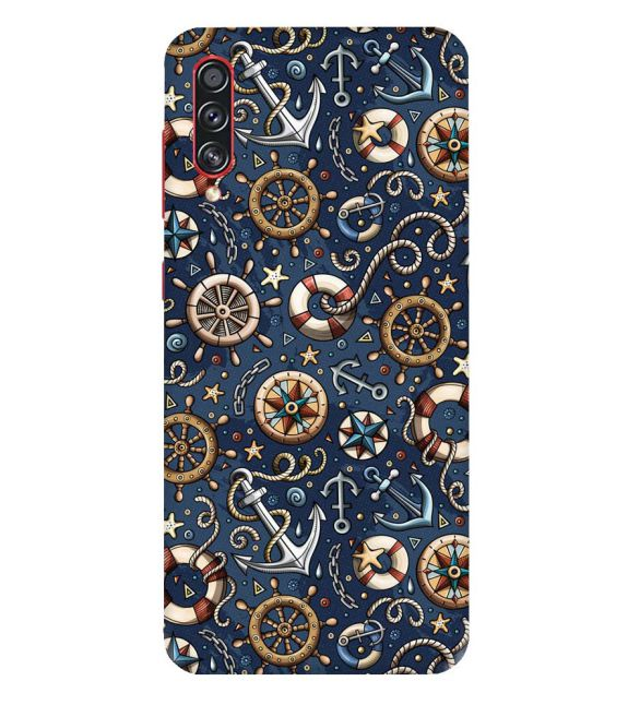 Nautical Blue Back Cover for Samsung Galaxy A70s
