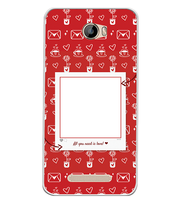 Need is Love Back Cover for Intex Aqua 5.5 VR