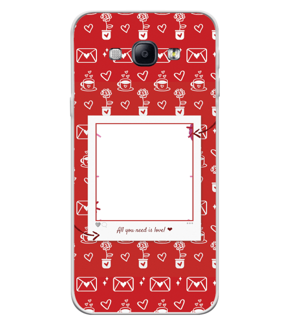 Need is Love Back Cover for Samsung Galaxy A8 (2015)
