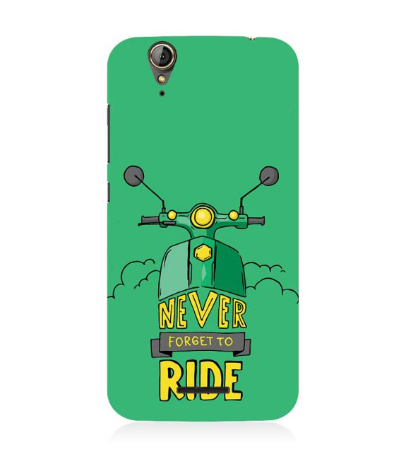 Never Forget to Ride Back Cover for Acer Liquid Zade 630
