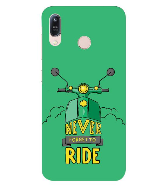 Never Forget to Ride Back Cover for Asus Zenfone Max (M1) ZB556KL