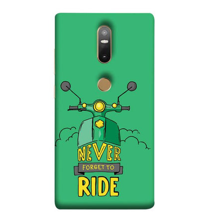 Never Forget to Ride Back Cover for Lenovo Phab 2 Plus
