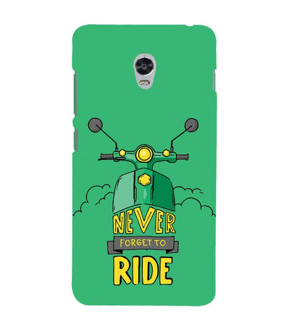 Never Forget to Ride Back Cover for Lenovo Vibe P1