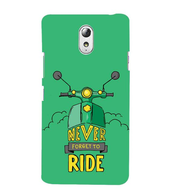 Never Forget to Ride Back Cover for Lenovo Vibe P1M