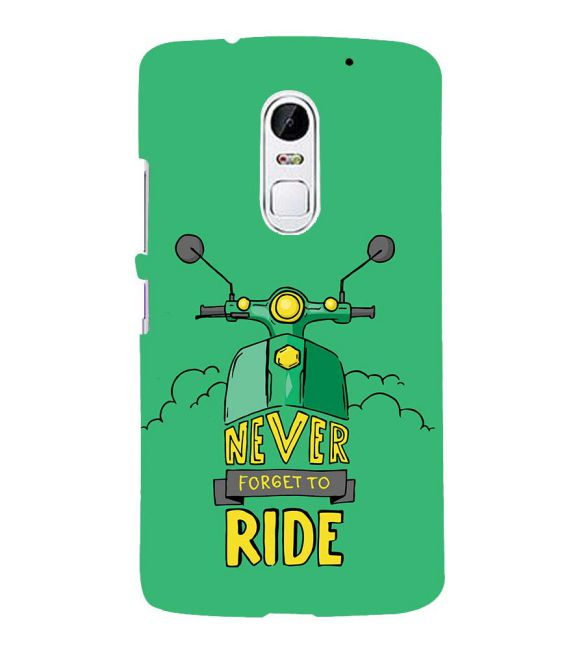 Never Forget to Ride Back Cover for Lenovo Vibe X3
