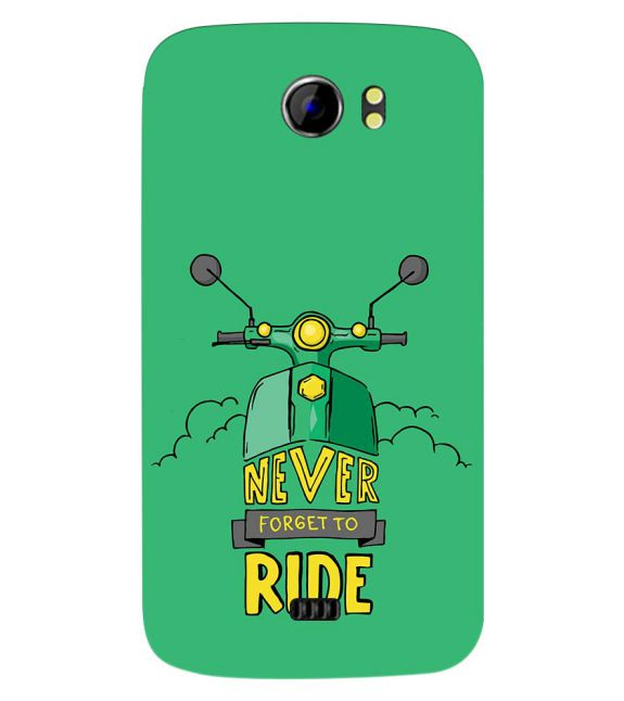 Never Forget to Ride Back Cover for Micromax A110 Canvas 2
