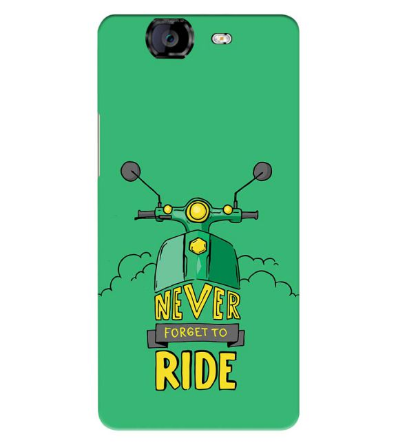 Never Forget to Ride Back Cover for Micromax A350 Canvas Knight